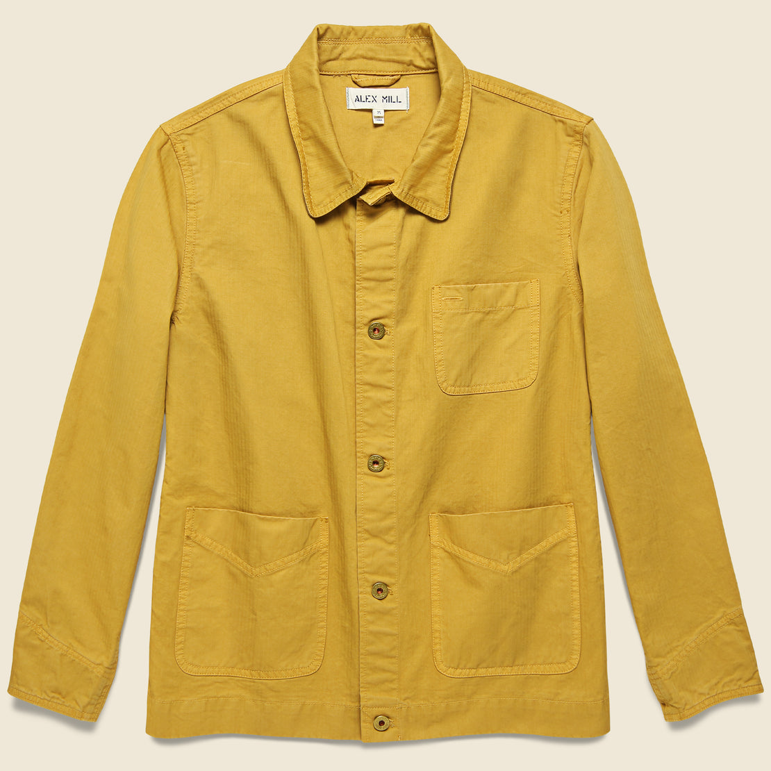 Alex Mill Herringbone Workers Jacket - Burnt Honey