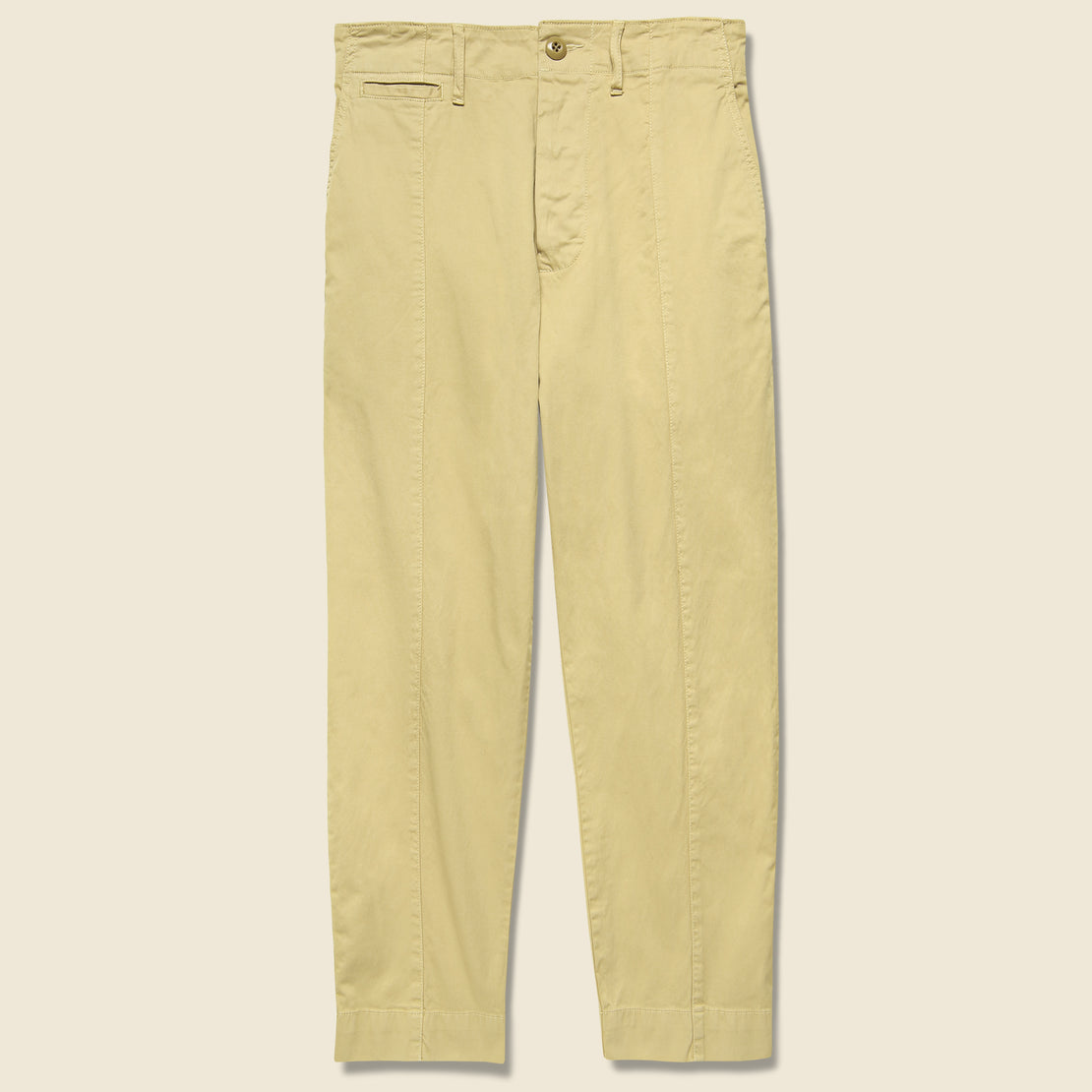Alex Mill Twill Ankle Pant - Khaki