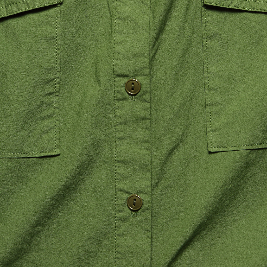Oversized Garment Dyed Shirt - Army Green