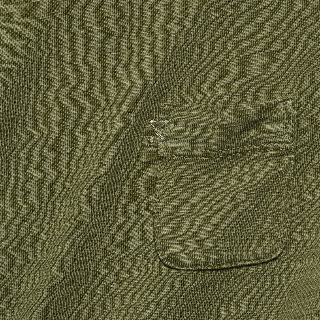 Slub Pocket Tee - Army Green