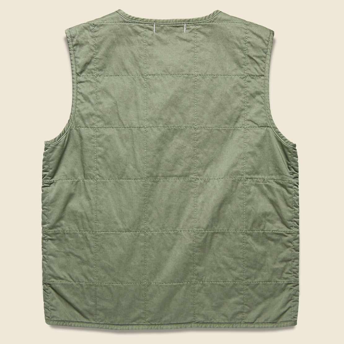Christopher Quilted Vest - Military Green