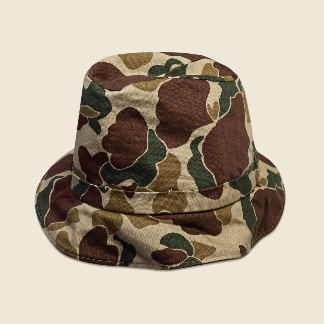 Reversible Bucket Hat - Brown/Camo