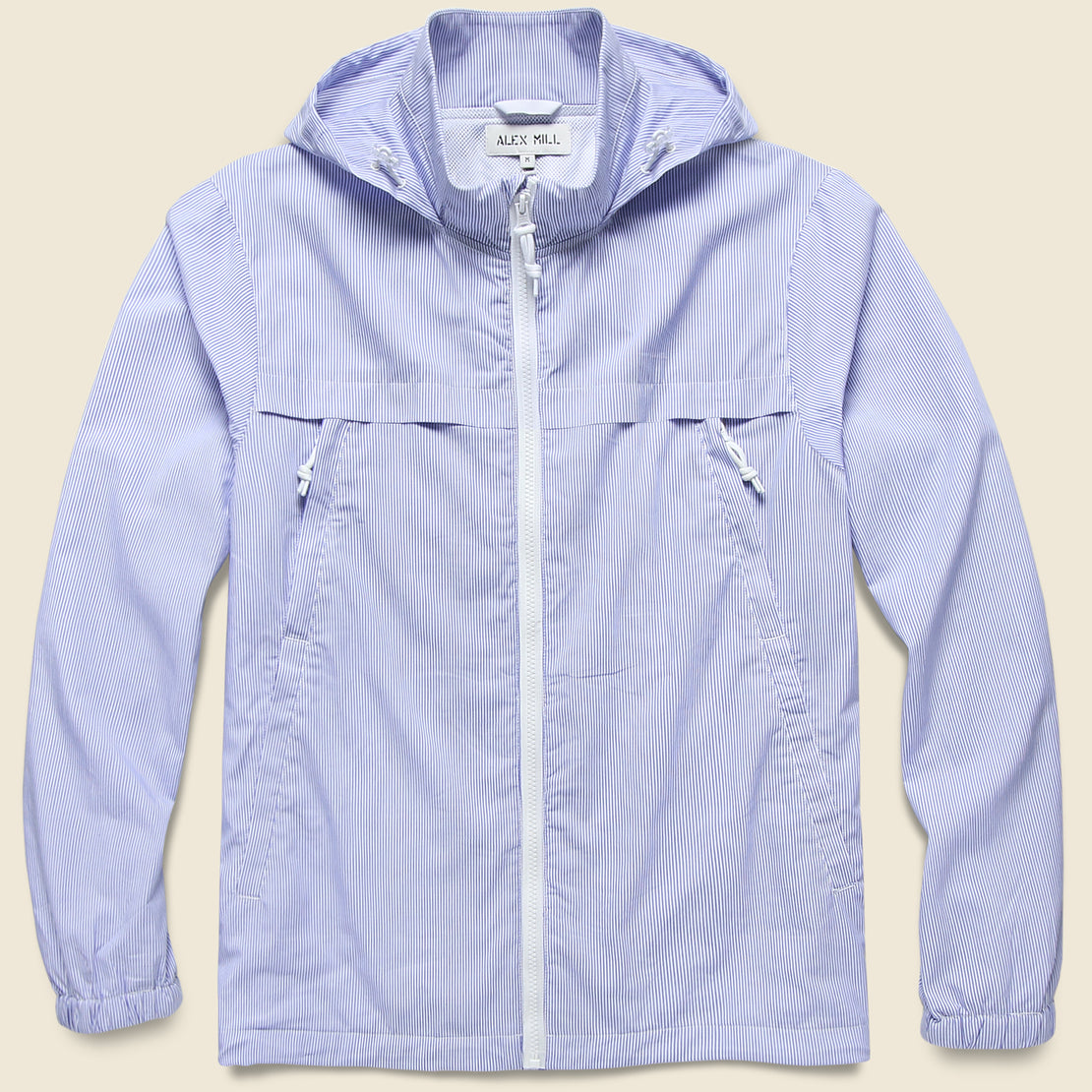 Alex Mill Packable Zip Jacket - Blue/White