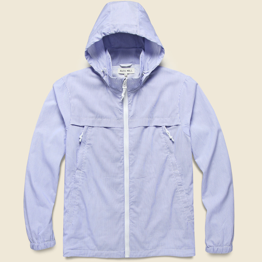Packable Zip Jacket - Blue/White