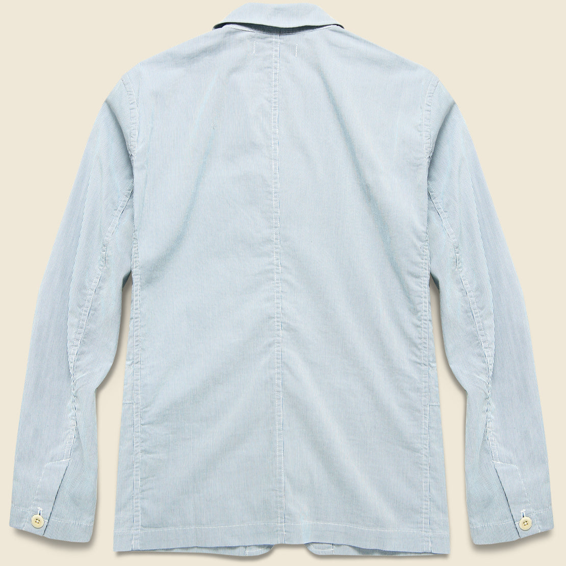 Striped Sack Jacket - Blue/White