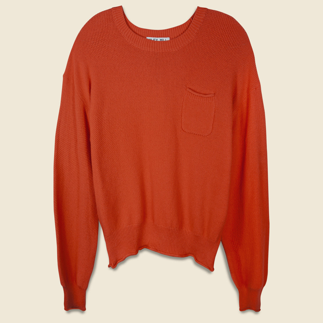 Alex Mill Boxy Seed Pocket Sweater - Flame Lily