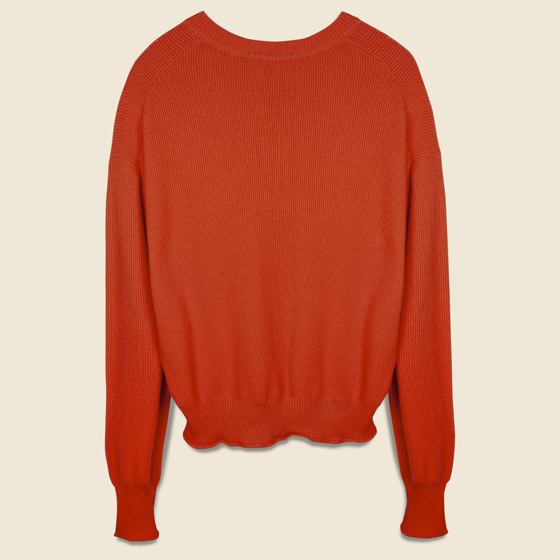Boxy Seed Pocket Sweater - Flame Lily