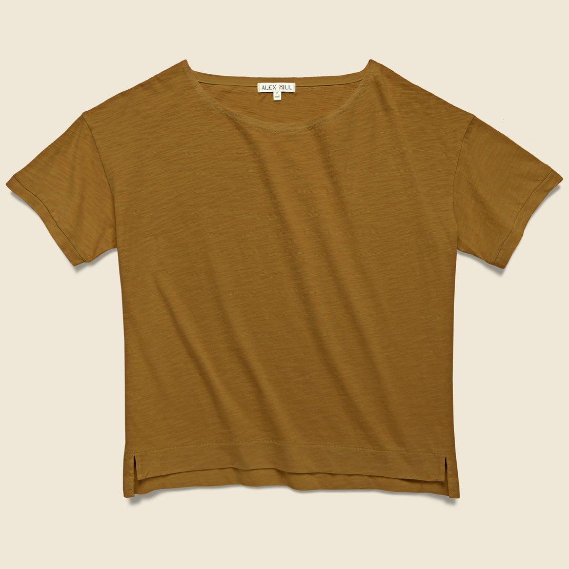 Alex Mill Boxy Boatneck Tee - Gold Clay