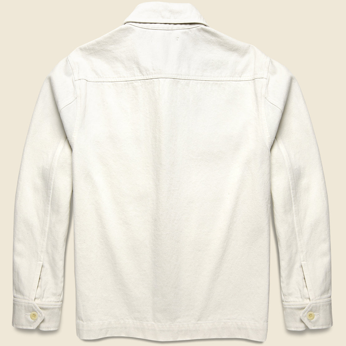 Upcycled Cotton Work Jacket - White