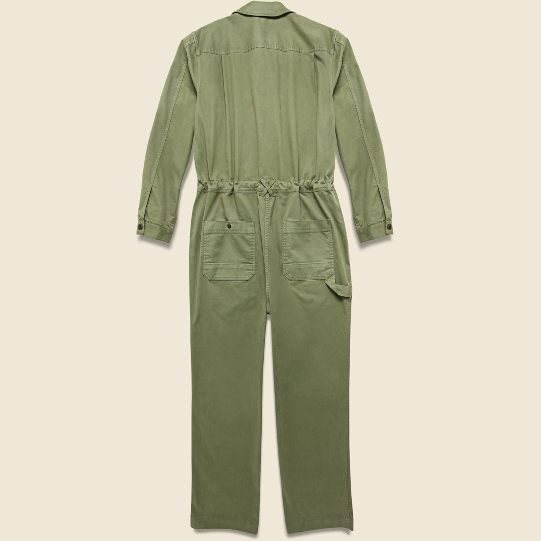 Unisex Chino Jumpsuit - Military Green