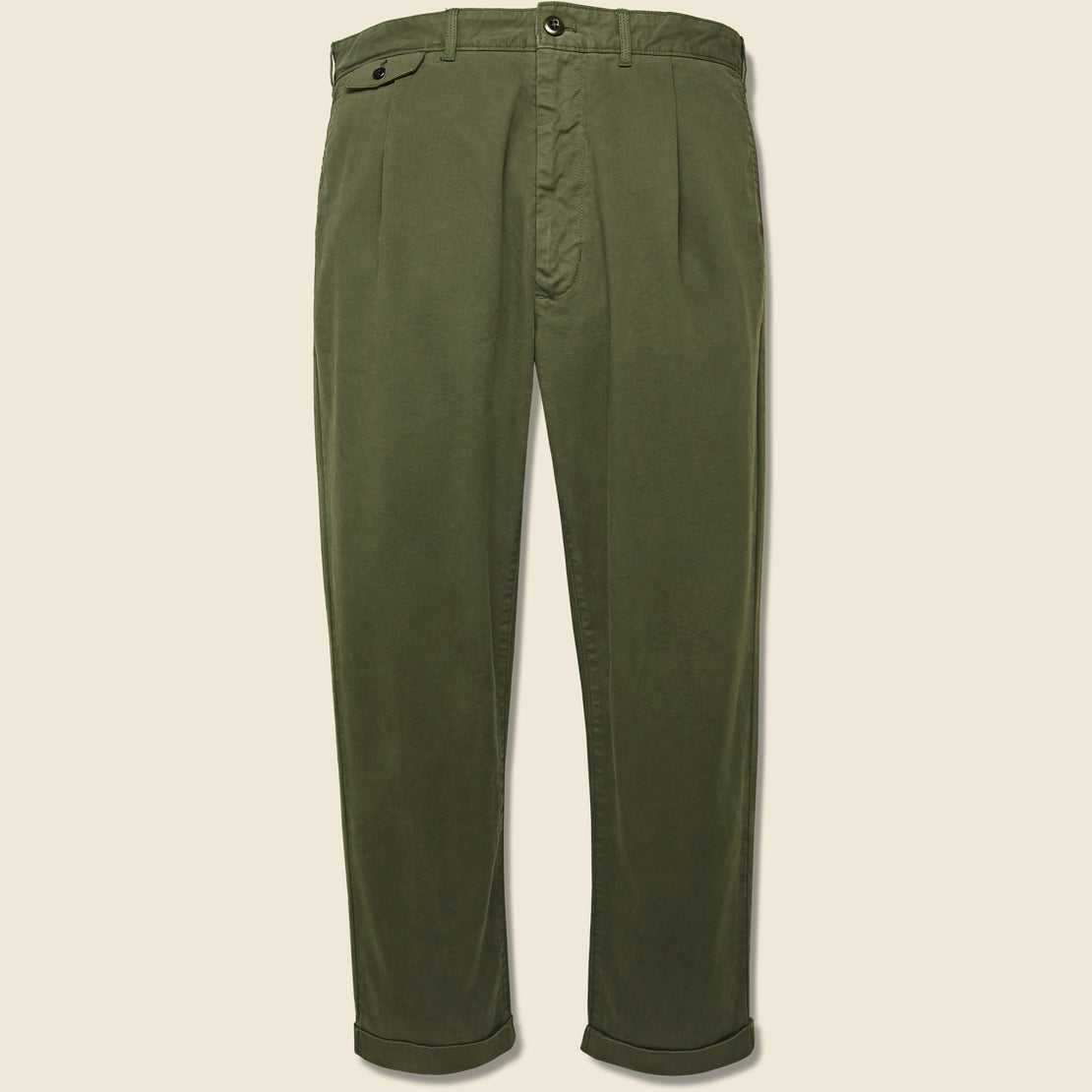 Alex Mill Standard Pleated Chino - Military Olive