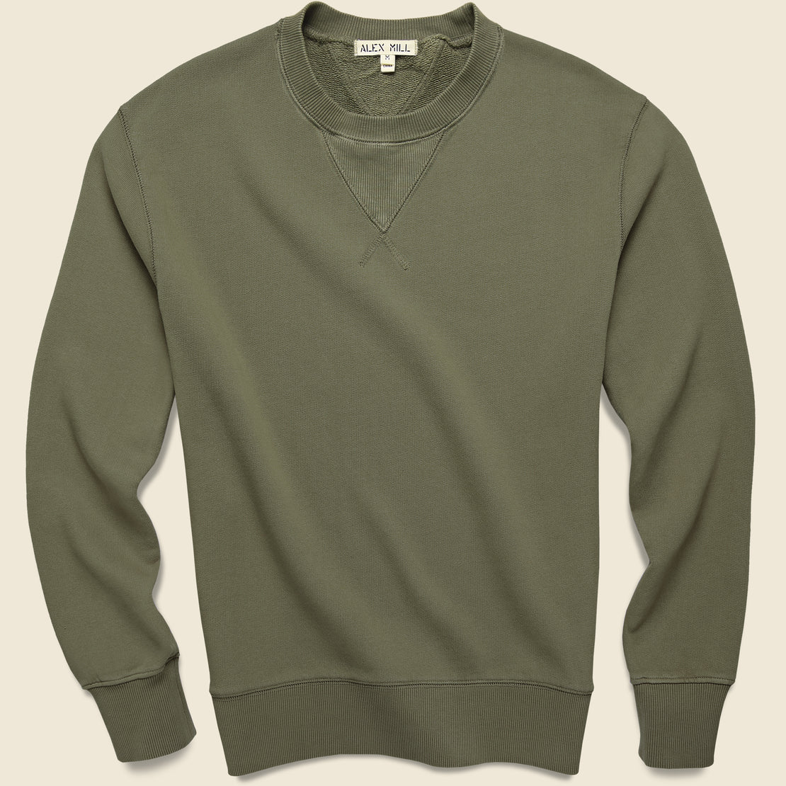 Alex Mill Crew Neck Sweatshirt - Olive