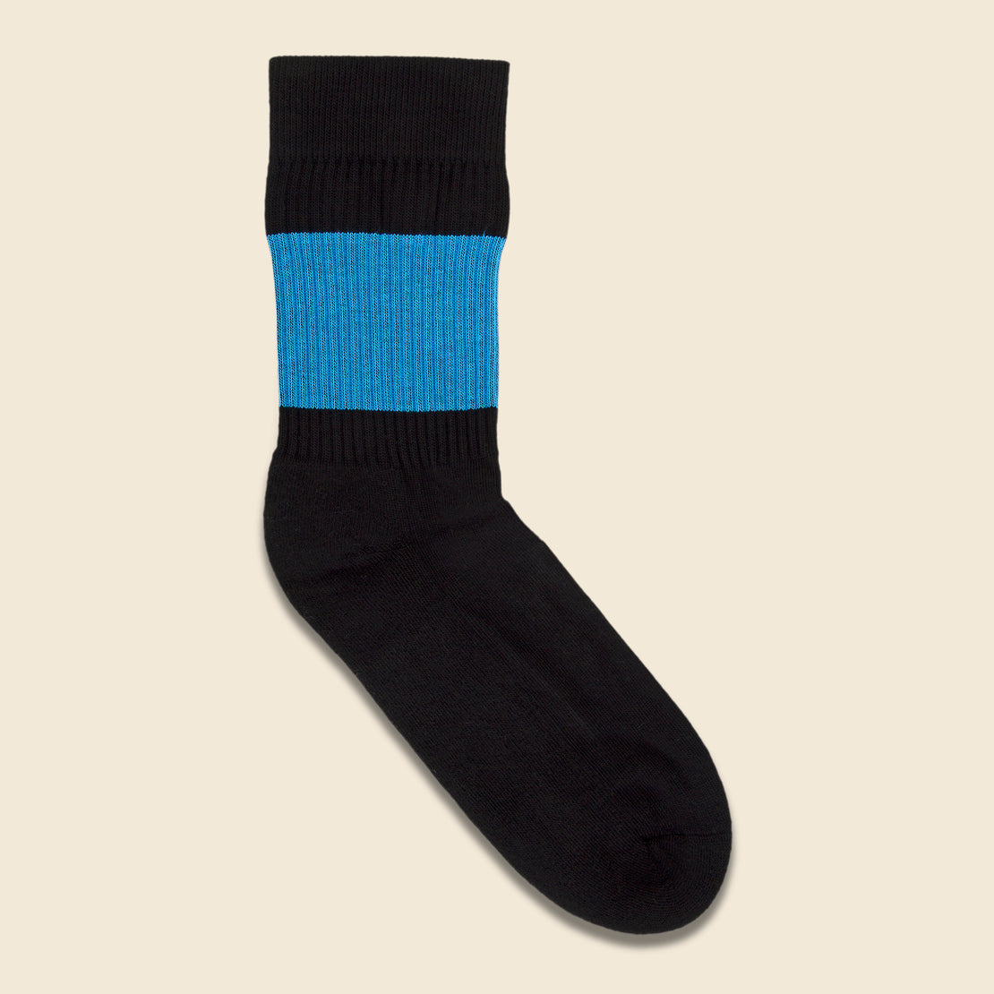American Trench Color Pop Crew Sock - Black/Blue