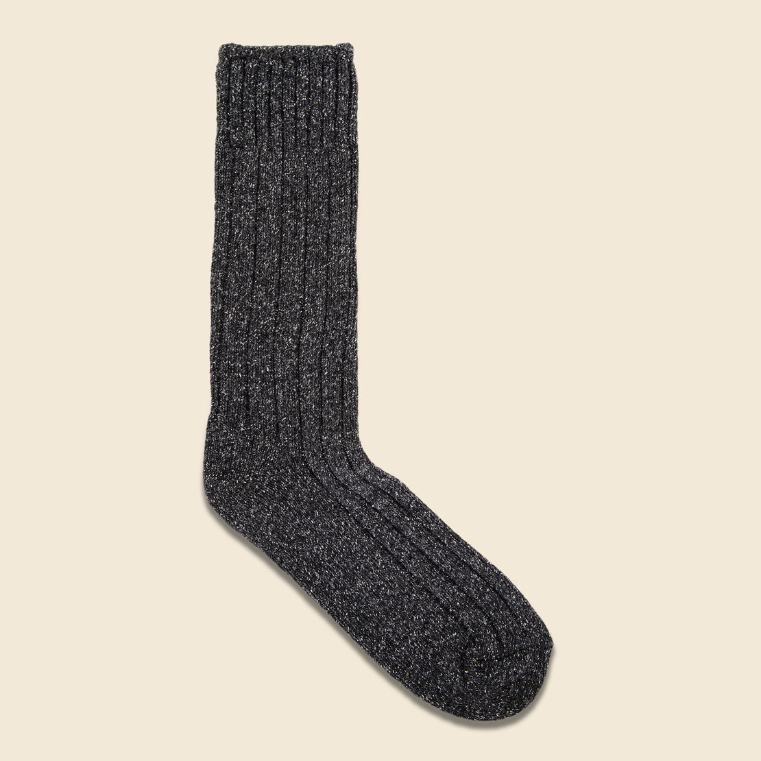 American Trench Wool & Silk Boot Sock - Charcoal