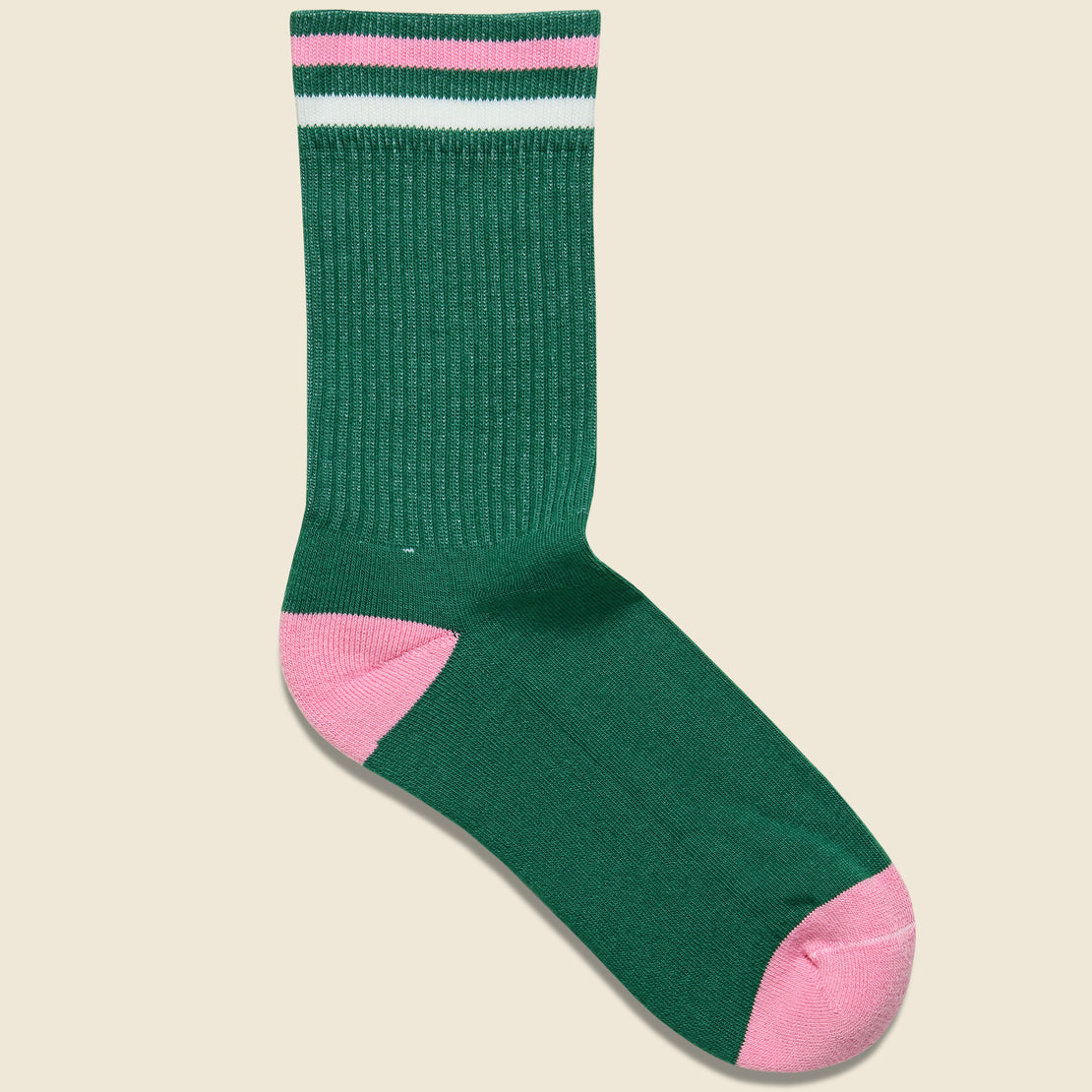 American Trench Kennedy Athletic Sock - Green/Pink