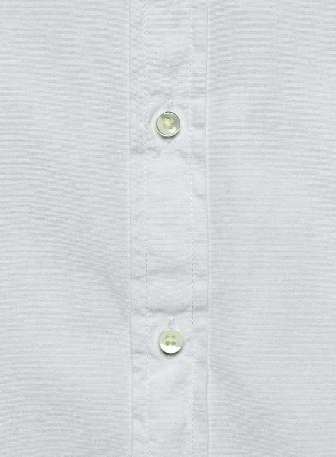 End on End School Shirt - White
