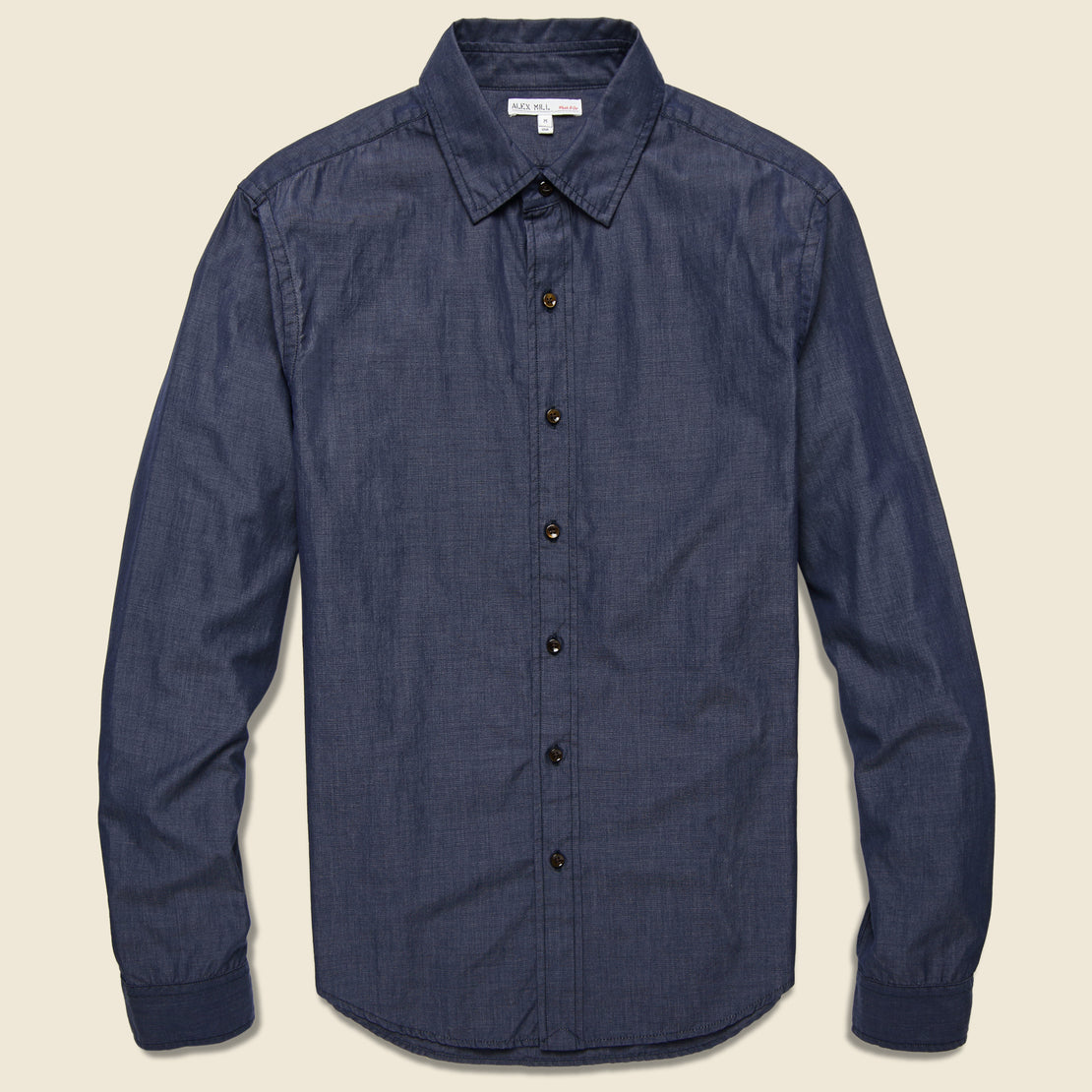 Alex Mill End on End School Shirt - Navy