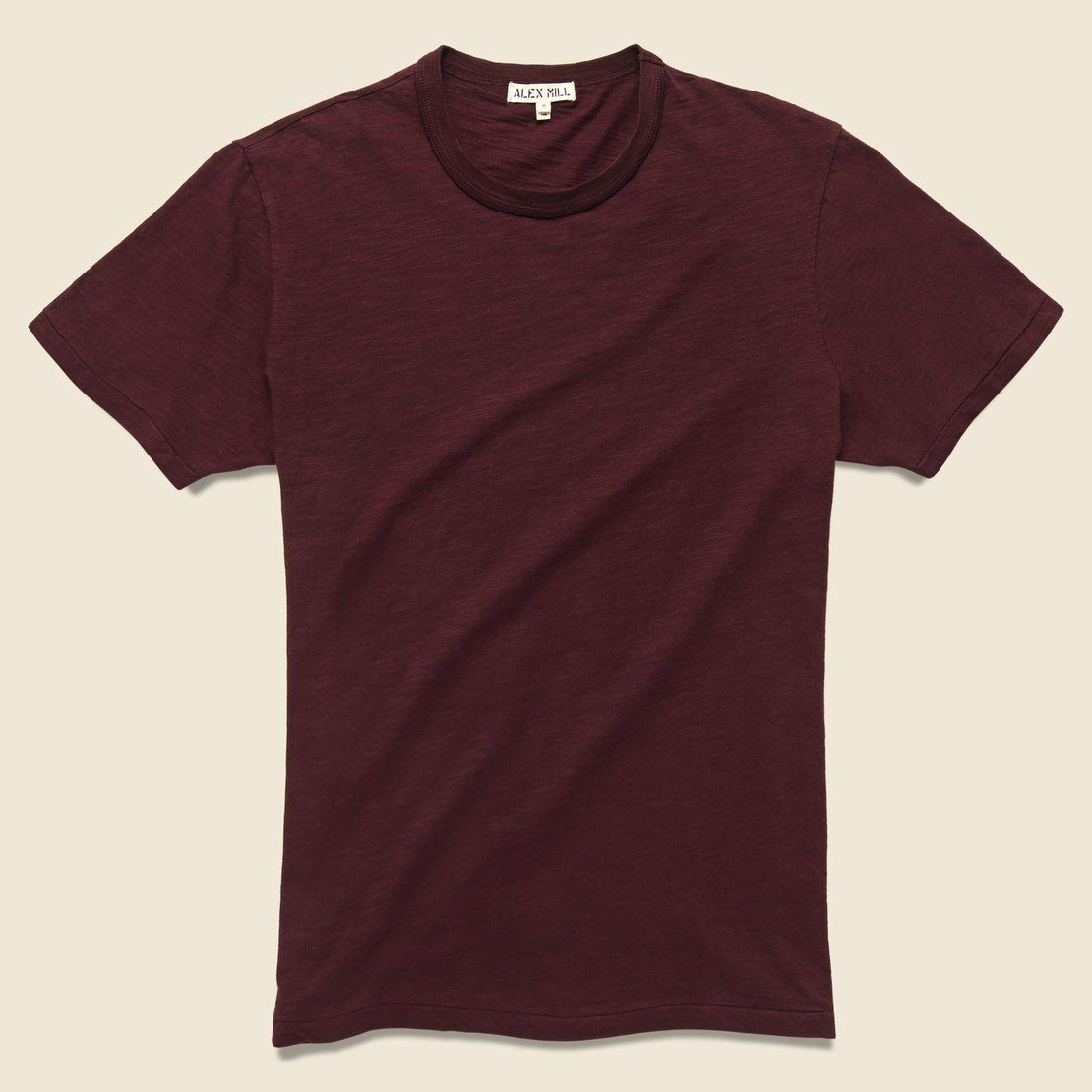 Alex Mill New Standard Crew Tee - Wine