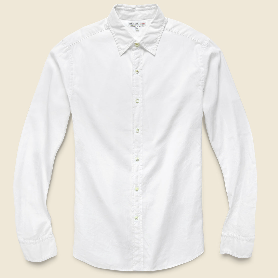 Alex Mill End on End School Shirt - White