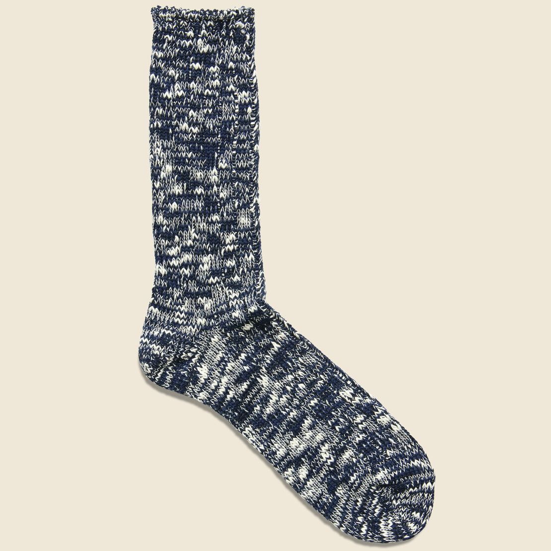 Anonymous Ism Marled Cotton Yarn Sock - Navy