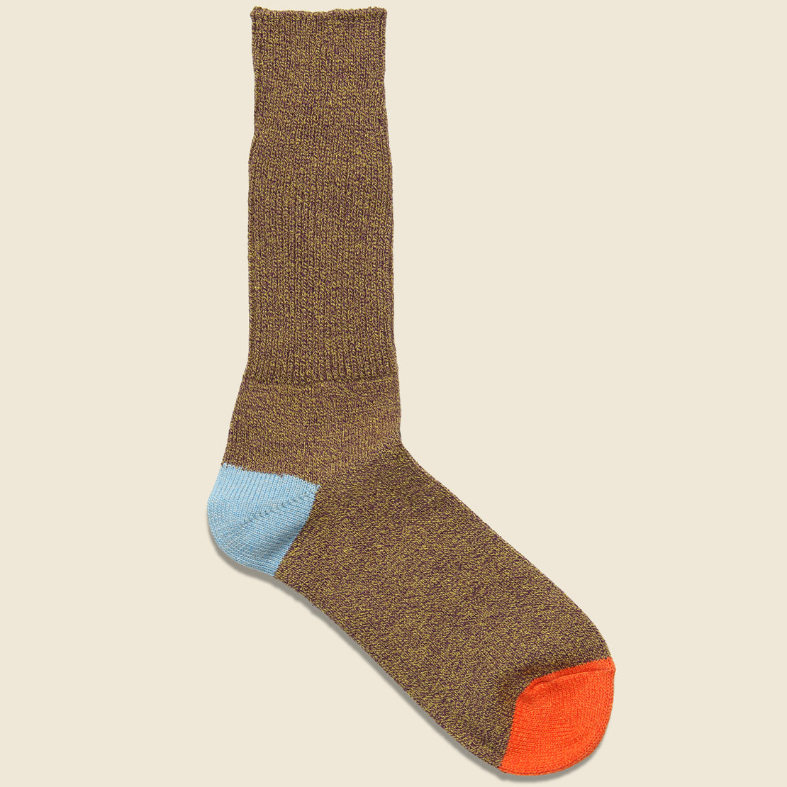 Anonymous Ism Ombre Tweed Wool Sock - Yellow/Brown/Orange