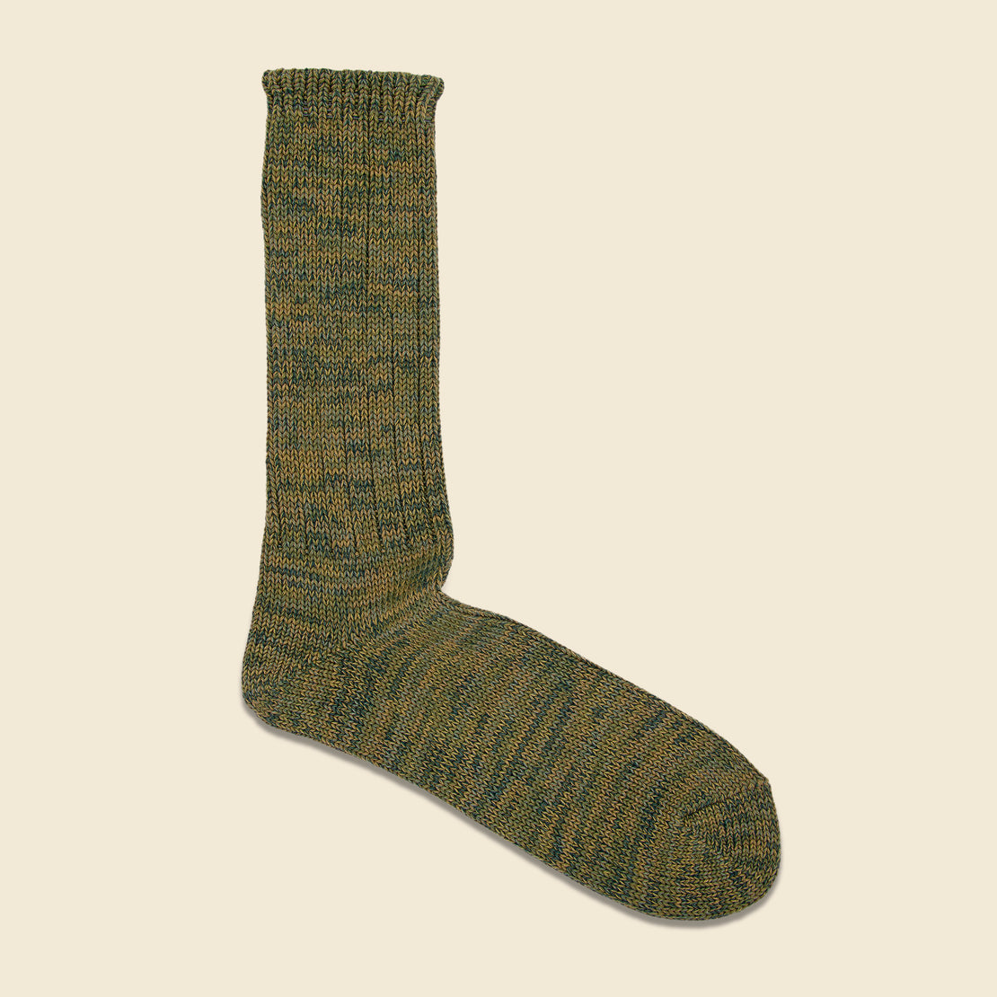 Anonymous Ism Crew Sock - Olive Marl