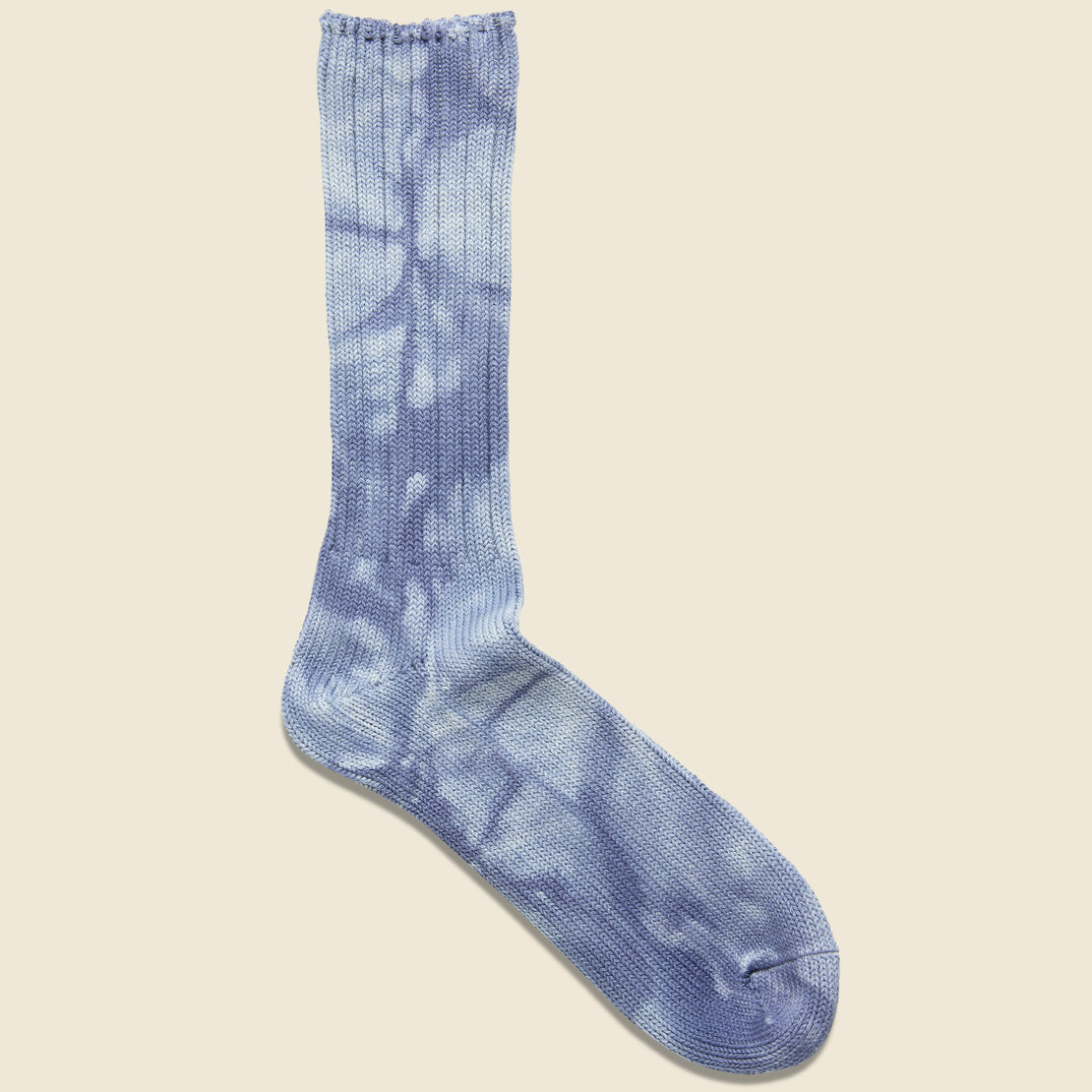 Anonymous Ism Uneven Dye Crew Sock - Indigo