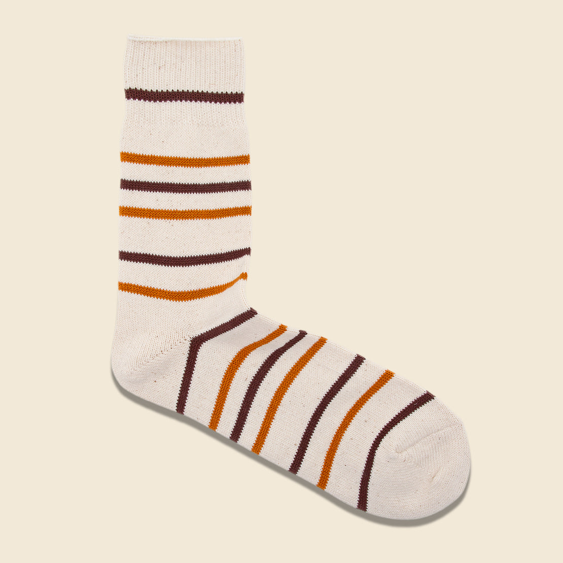 Anonymous Ism Multi Stripe 3/4 Sock - Brown/Gold