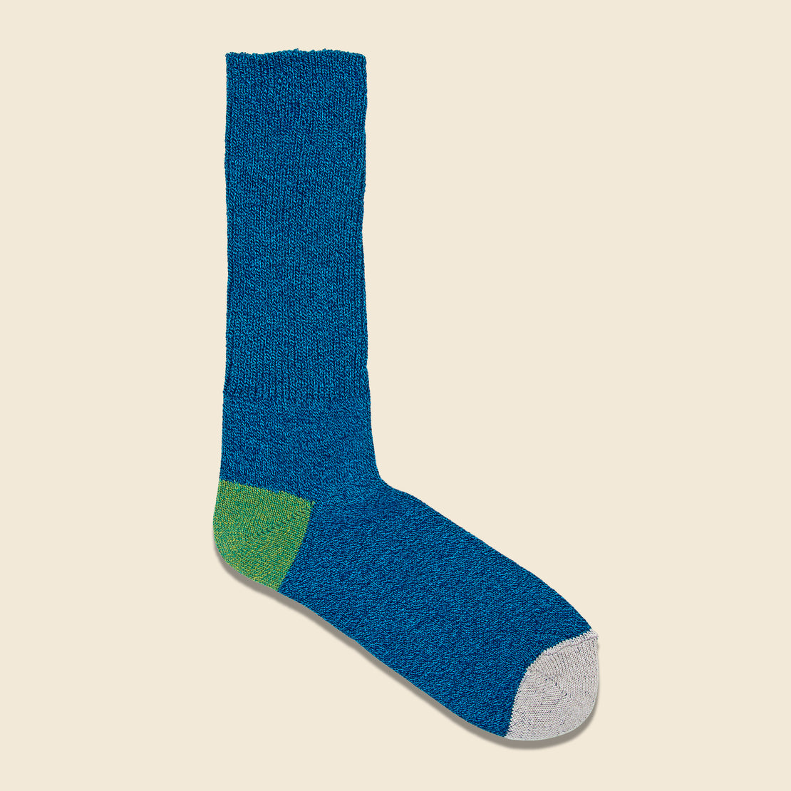 Anonymous Ism 2-Point Heel/Toe Crew Sock - Blue/Green/White