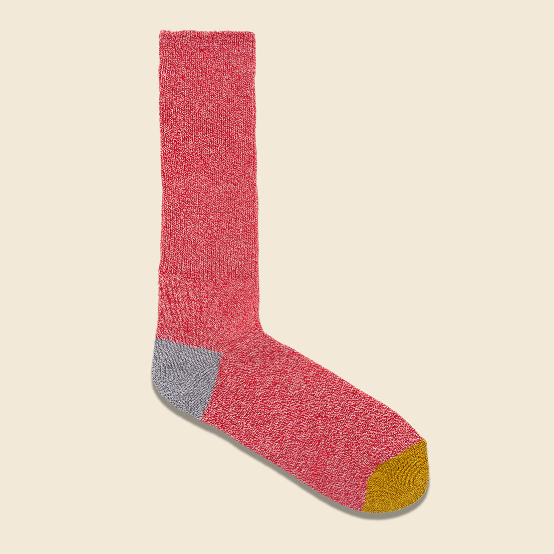 Anonymous Ism 2-Point Heel/Toe Crew Sock - Pink/Grey/Gold