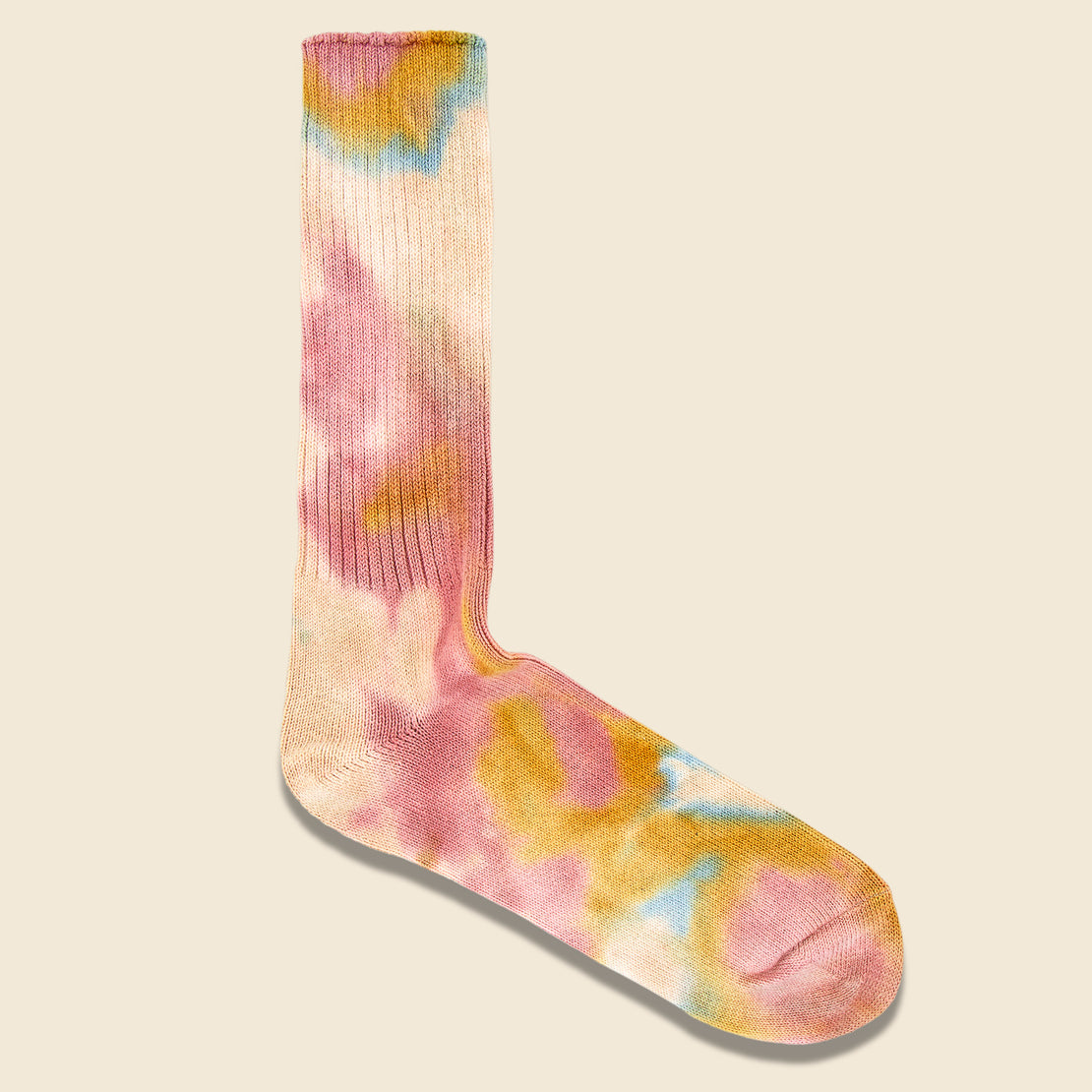 Anonymous Ism Tie Dye Crew Sock - Pink