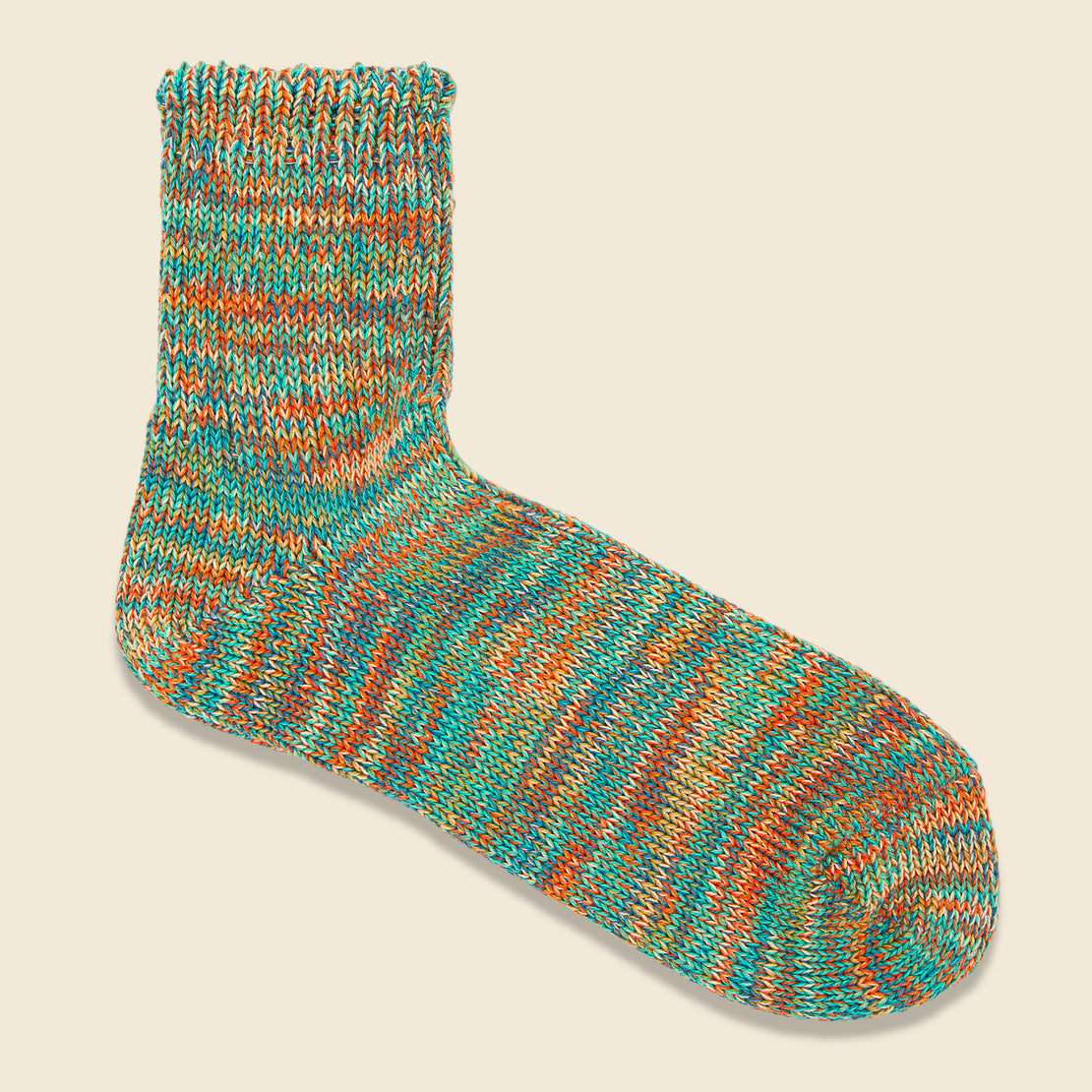Anonymous Ism 5 Color Mix Sock - Mint