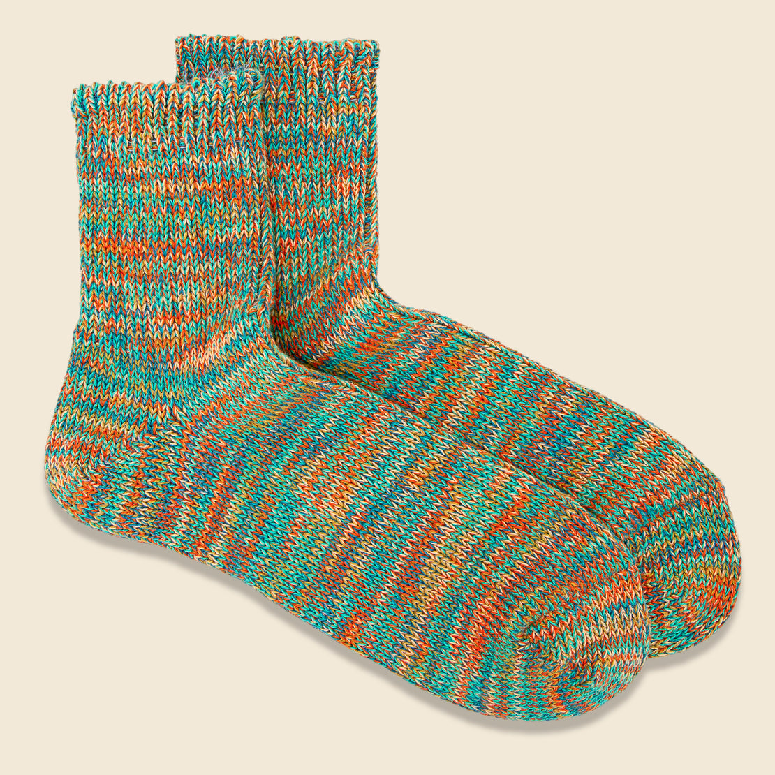 5 Color Mix Sock - Mint