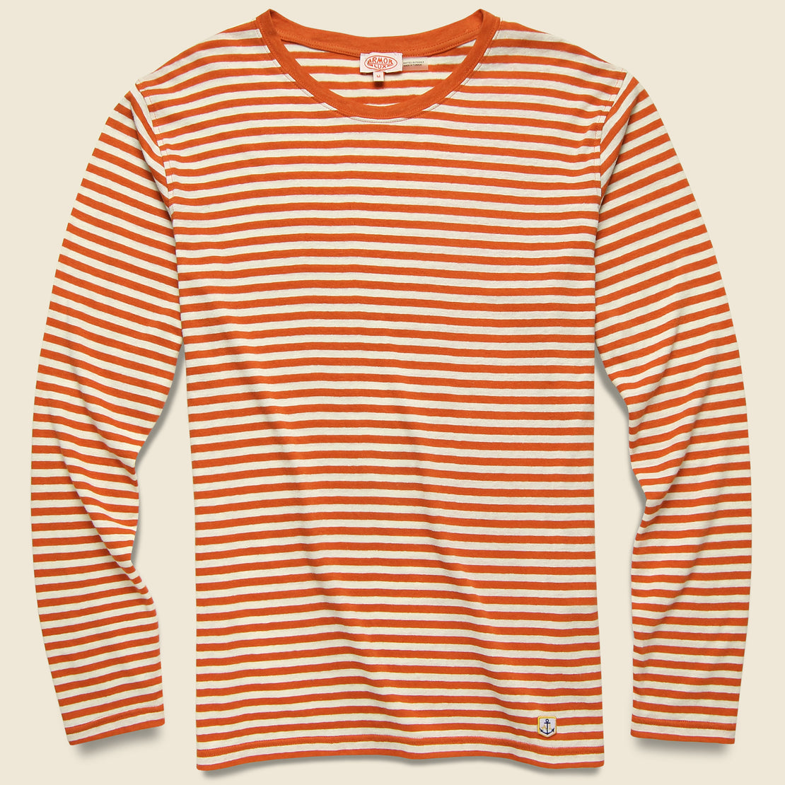 Armor Lux Breton Stripe Tee - Orange