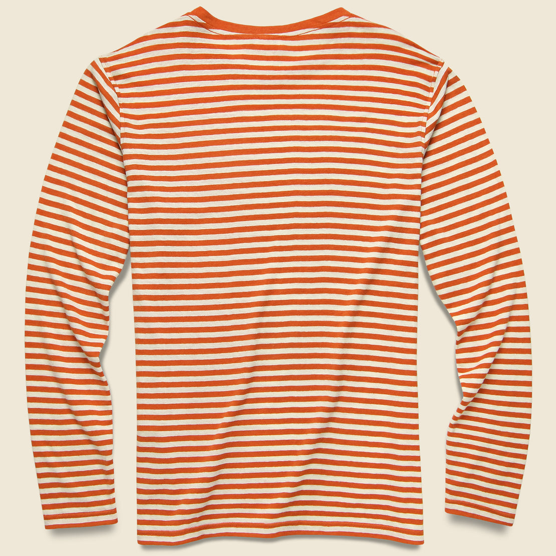 Breton Stripe Tee - Orange