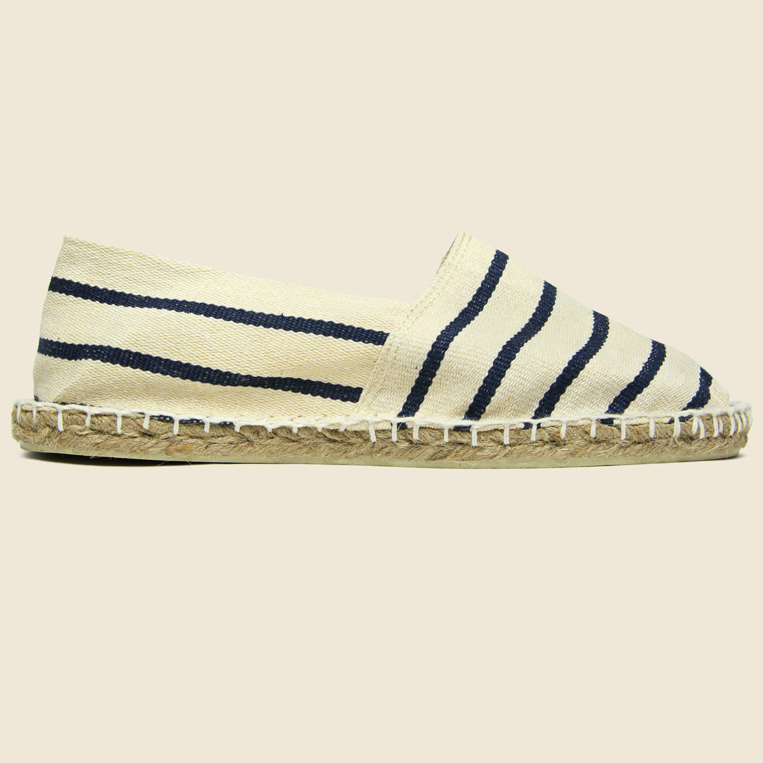 Armor Lux Stripe Espadrilles - Navy/Natural