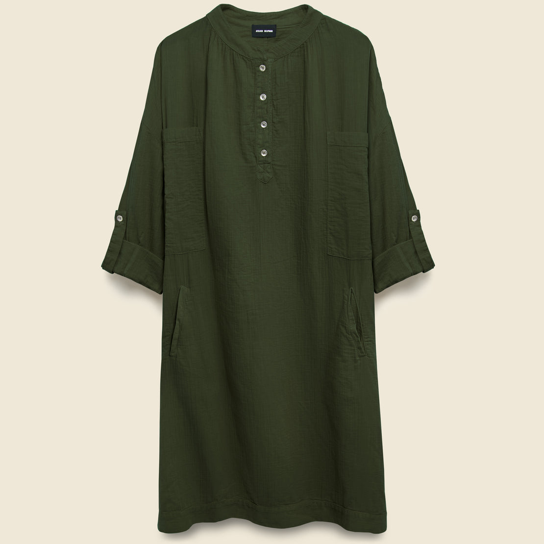 Atelier Delphine Beni Dress - Hunter Green