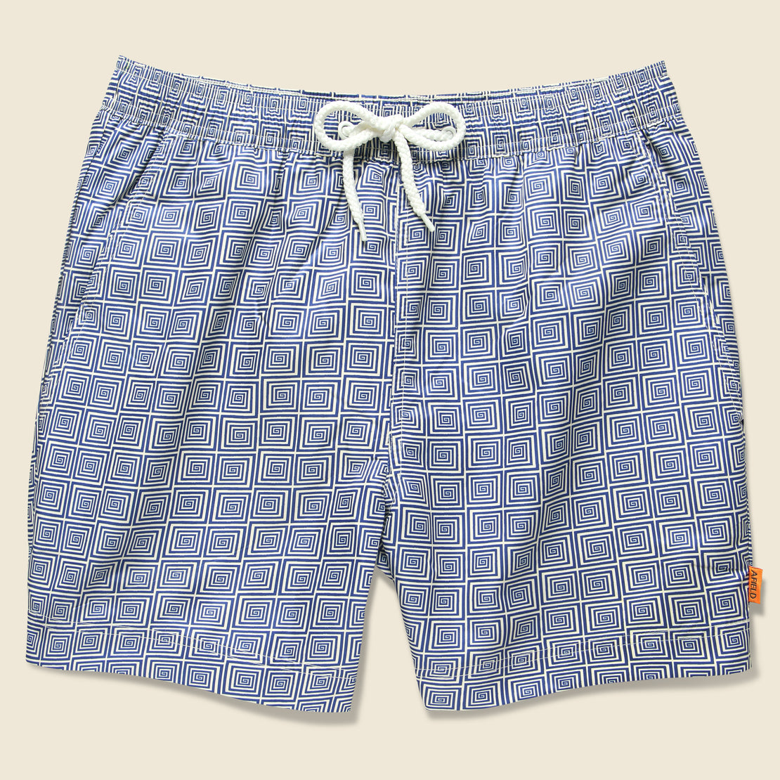Afield Printed Swimshorts - Blue Spiral