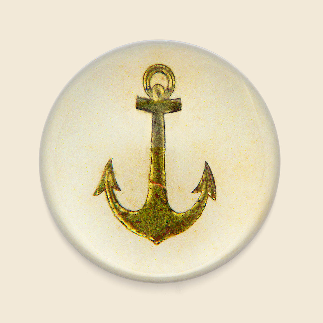 John Derian Dome Paperweight - Anchor
