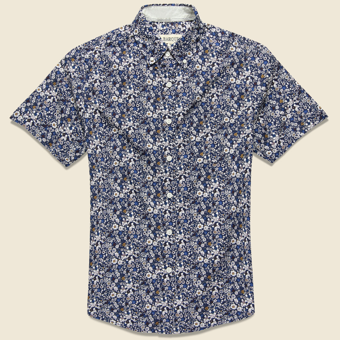Barque Multi-Color Floral Shirt - Navy