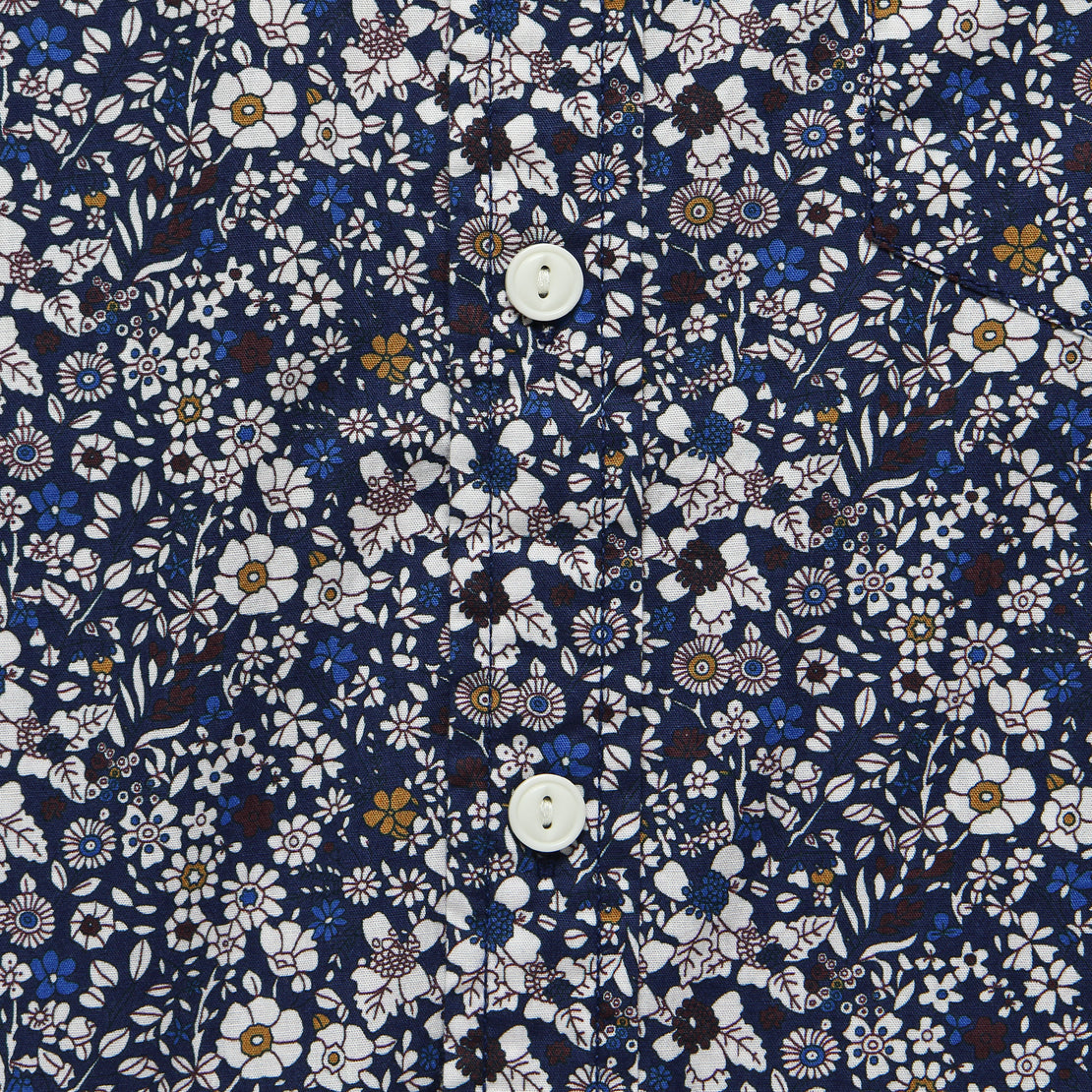 Multi-Color Floral Shirt - Navy