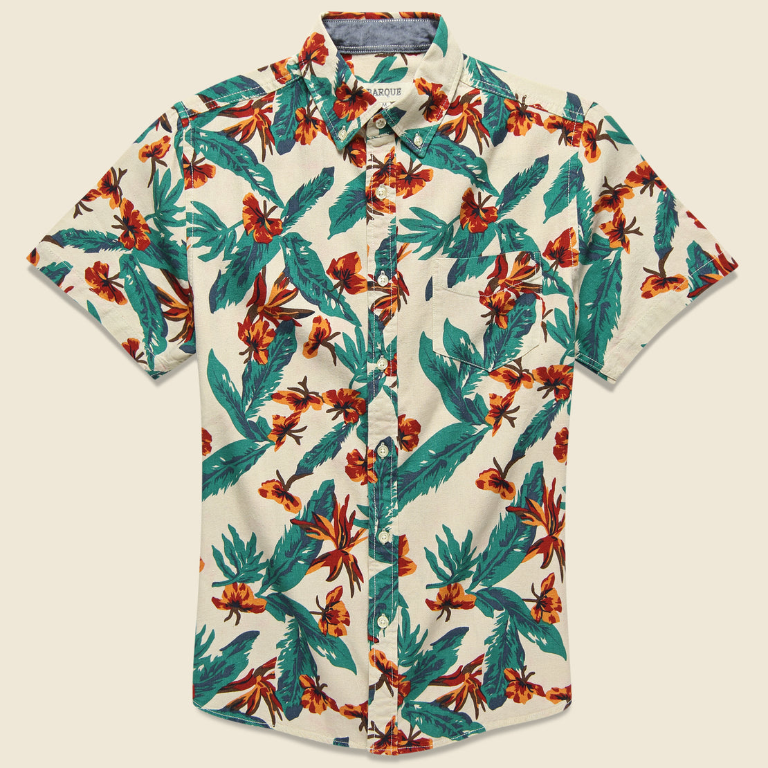 Barque Tropical Print Shirt - Natural