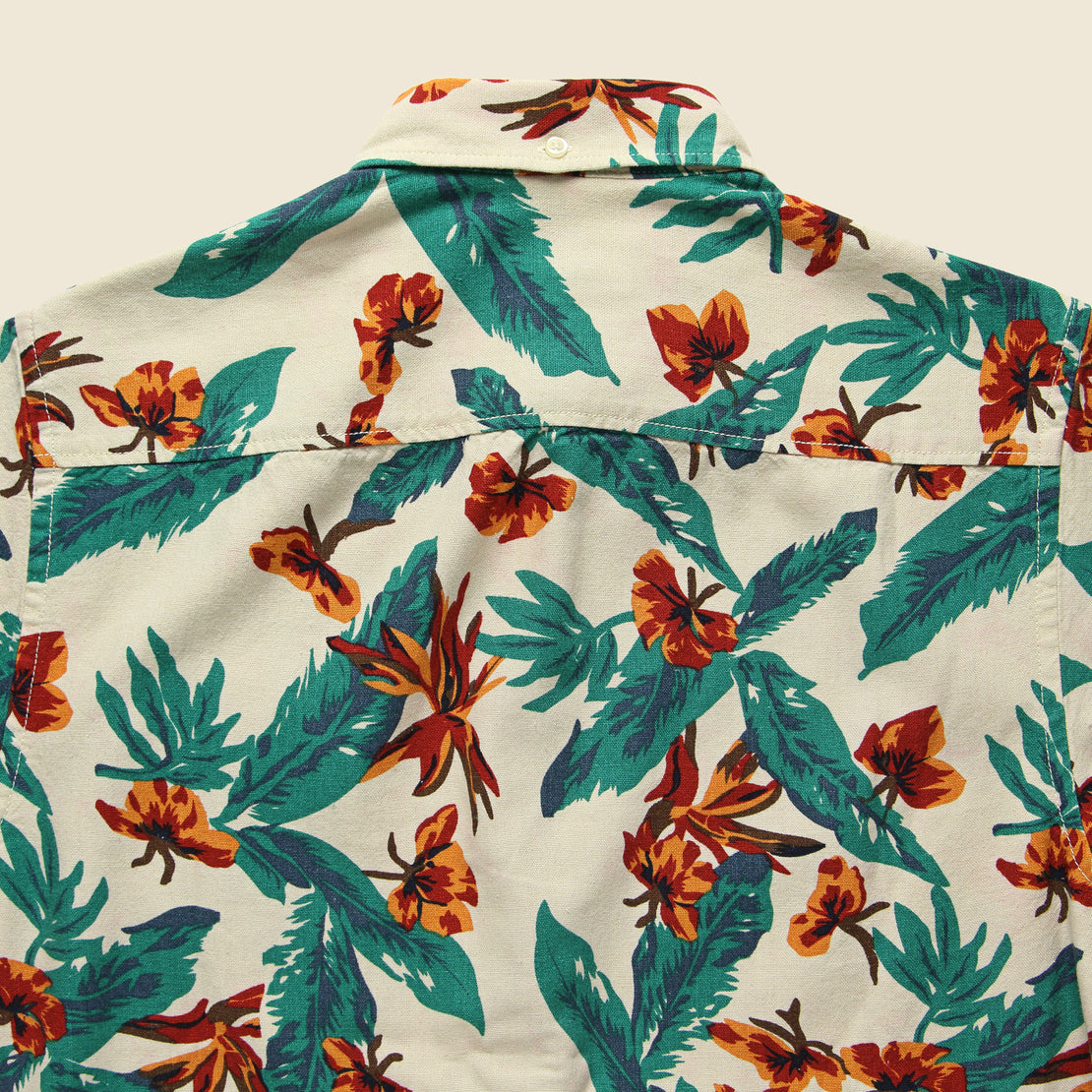Tropical Print Shirt - Natural