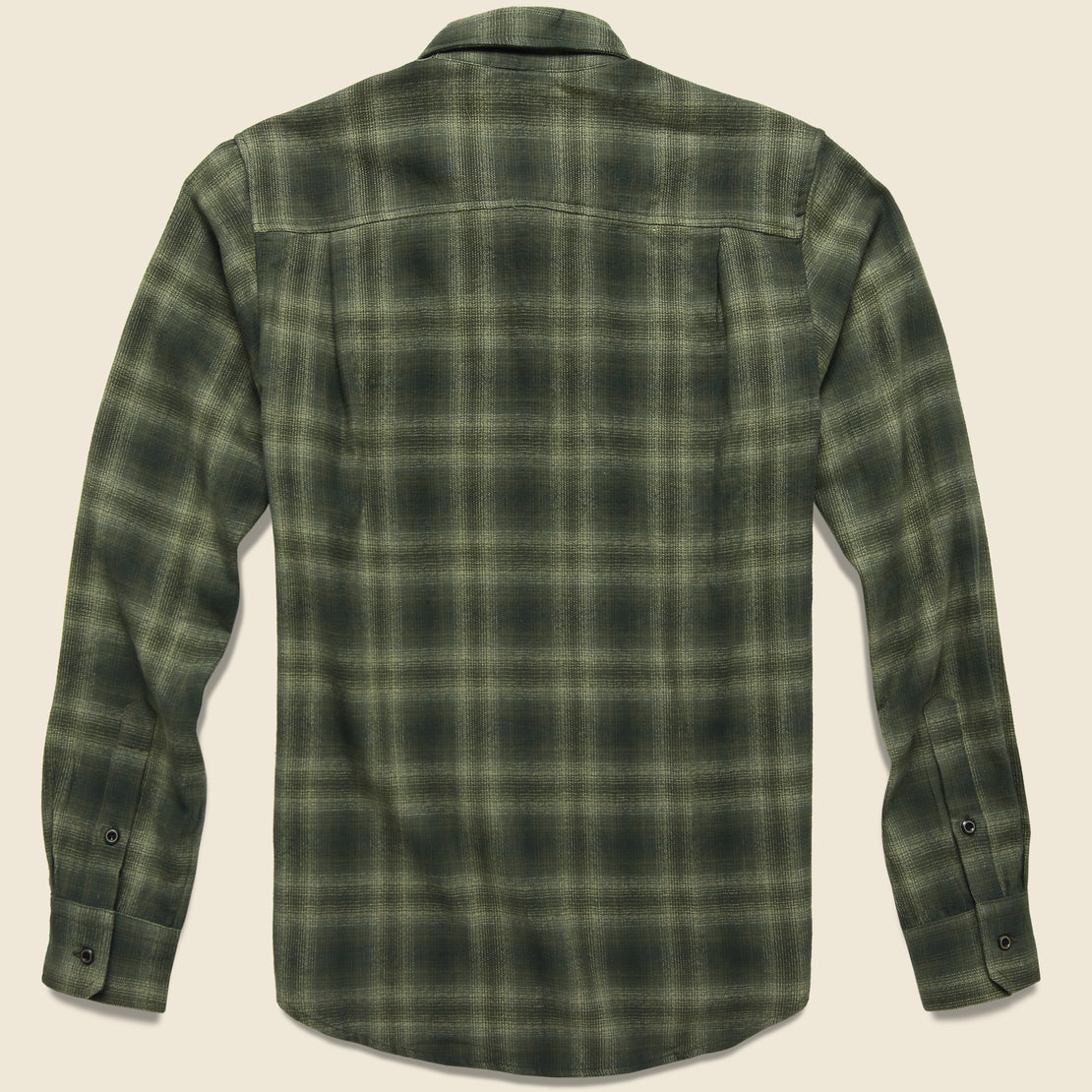 Winslow Flannel - Olive Plaid