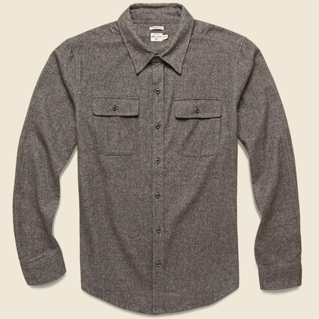Bridge & Burn Bedford Shirt - Coffee Heather