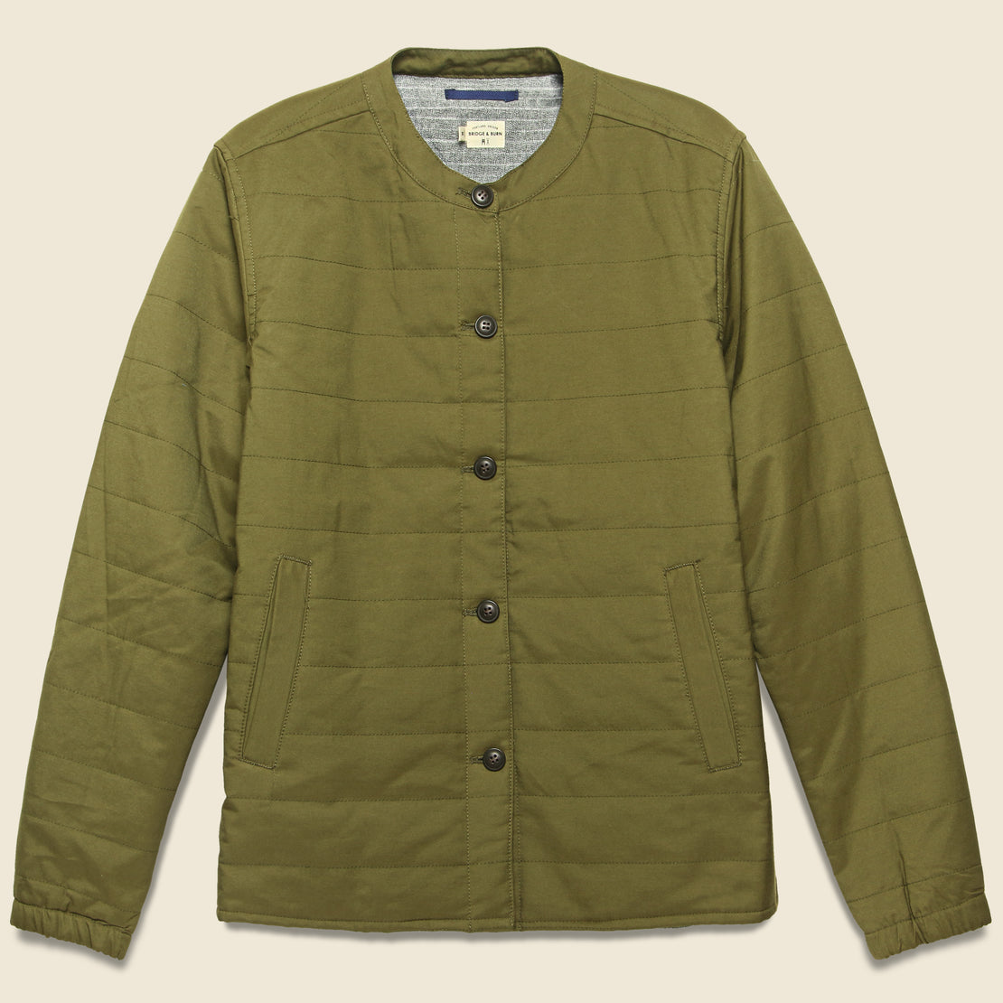 Bridge & Burn Isidore Liner Jacket - Dark Khaki