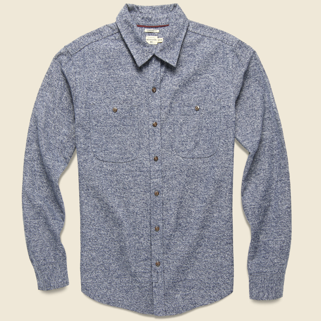 Bridge & Burn Winslow Flannel - Navy Heather