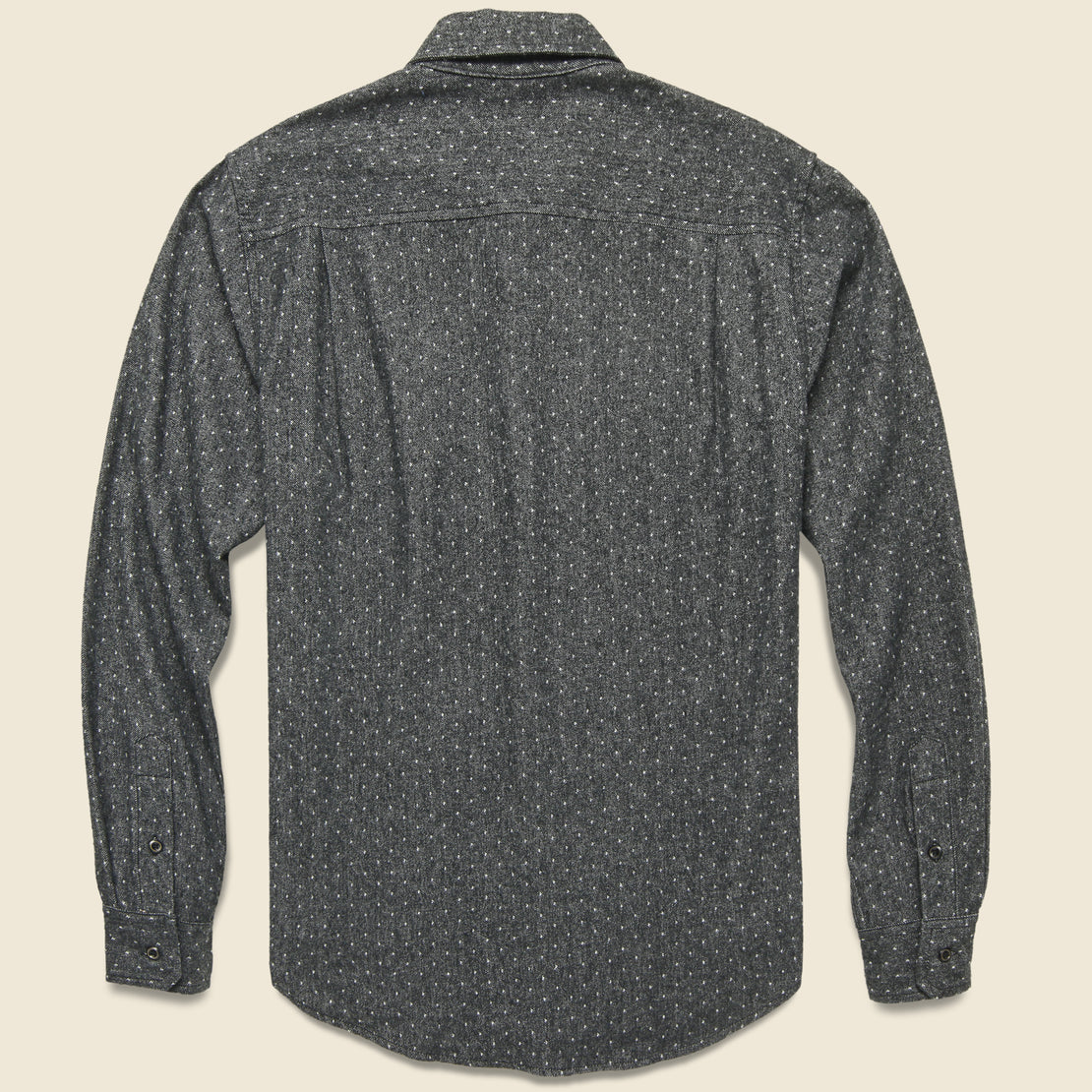 Winslow Flannel - Charcoal Polkadot