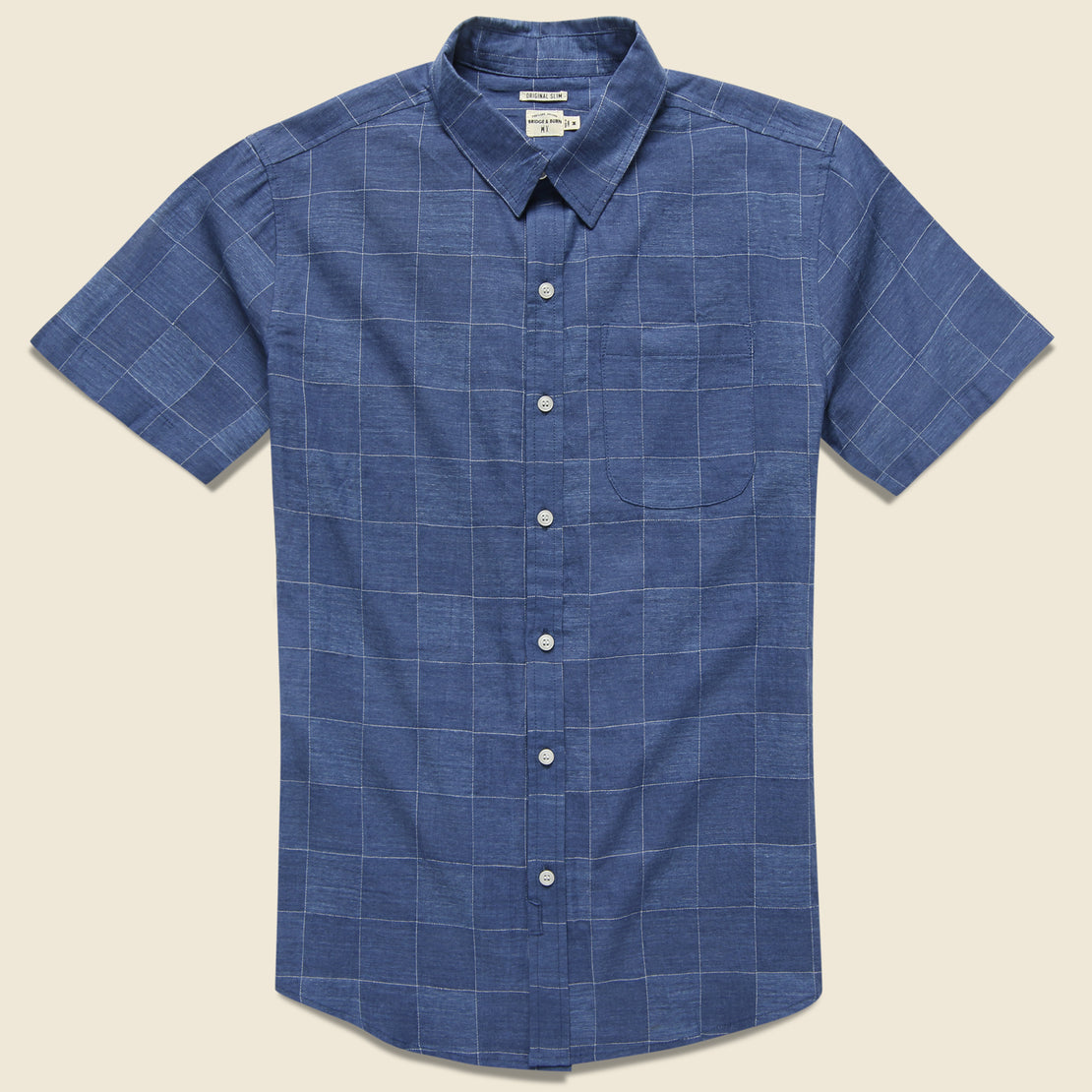 Bridge & Burn Harbor Shirt - Blue Check
