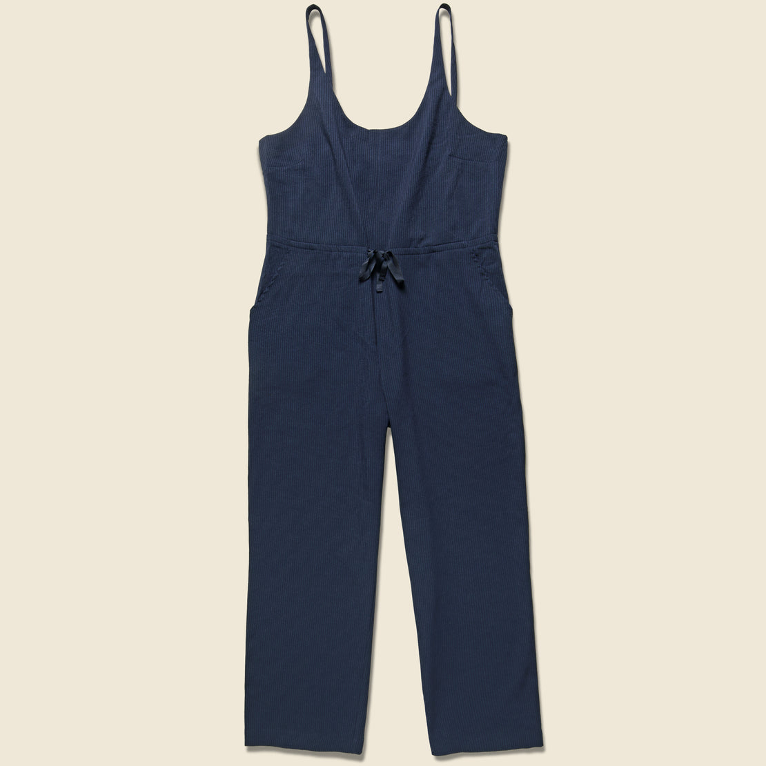 Bridge & Burn Otto Jumpsuit - Navy Seersucker